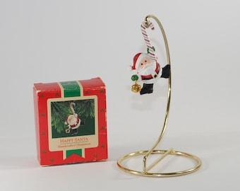 Vintage Hallmark Keepsake Christmas Ornament, Happy Santa, 1987