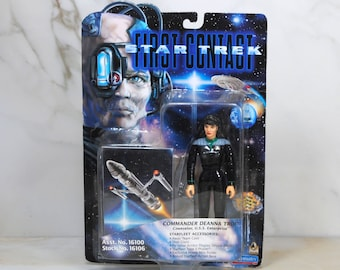 Vintage Star Trek Action Figure Commander Deanna Troi 16100 16106 1996