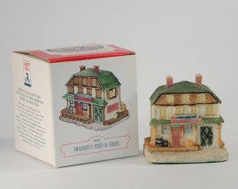 Vintage Christmas Liberty Falls Swanson's Feed & Grain AH41 By The Americana Collection 1993