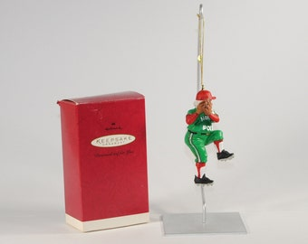 Vintage Hallmark Keepsake Christmas Ornament, Baseball Santa, Personalized Ornament, 1993