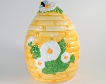 Vintage Beehive Cookie Jar