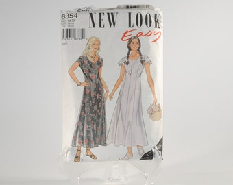 Vintage Simplicity Sewing Pattern Complete Cut Pattern 6354 1995 Misses Dress Up To Size 22 Cut To Size 22 With Instructions