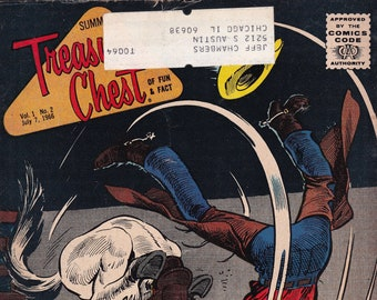 Vintage Treasure Chest Comic Book, Humpty Dumpty, Volume 1 Number 2, July 7, 1966
