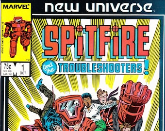 Vintage Comic Book, Spitfire And The Troubleshooters, Number 1, October 1986, Marvel Comics
