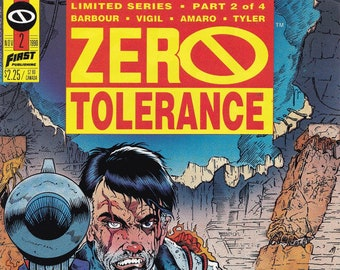 Vintage Comic Book Zero Tolerance Volume 1 Number 2  January 1990, First Comics