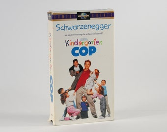 Vintage VHS Tape Kindergarten Cop 1998 starring Arnold Schwarzenegger