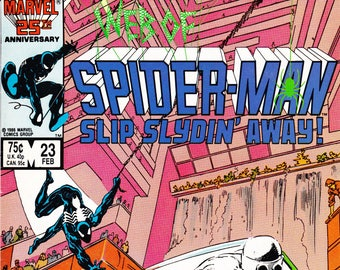 Vintage Comic Book, Web of Spider Man, Volume 1 Number 23, February 1987