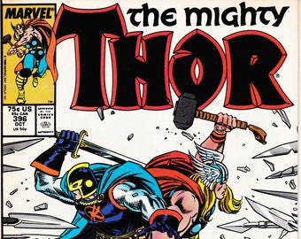 Vintage Comic Book, The Mighty Thor, Volume 1 Number 396, October 1988, Marvel Comics