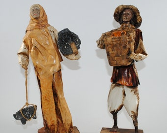 Vintage Mexican Folk Art, Paper-Mache, Sculpture, 1980s