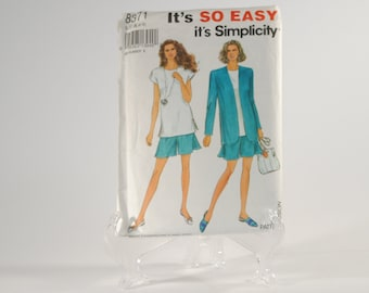Vintage Simplicity Sewing Pattern Partial Cut Pattern 8371 1993 Misses Shorts Cut To Size 16  With Instructions