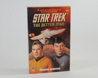 Vintage Star Trek Book, The Better Man Number 72 1994 Paperback