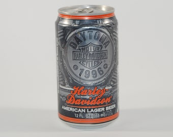 Vintage Beer Can, Harley Davidson, Beer, Daytona Bike Week 1996, American Lager Beer, Limited Edition