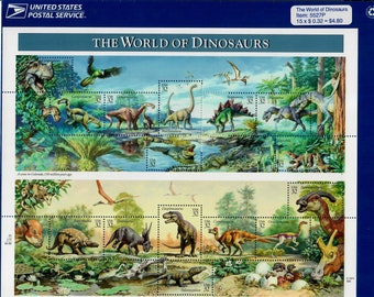 Vintage Stamps, The World of Dinosaurs 1997 32 Cent, Scott 3136