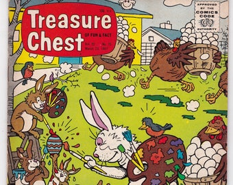 Vintage Treasure Chest Comic Book, George A Pflaum, Forbidden Island, Volume 22 Number 15, March 23 1967