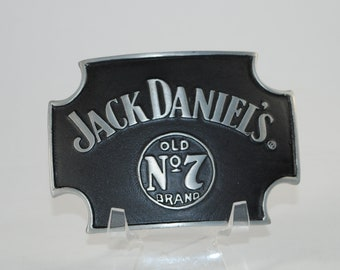 "New Jack Daniels Belt Buckle Officially Licensed Good Stuff Old No. 7 Brand Made In The USA Black 4""x3"""