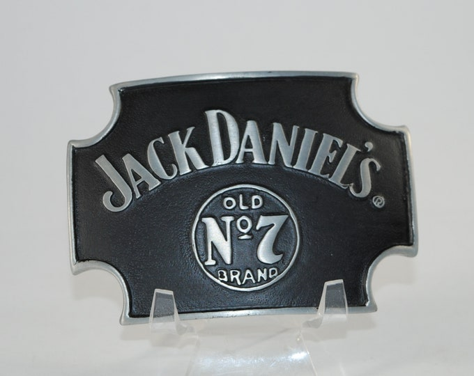 "Featured listing image: New Jack Daniels Belt Buckle Officially Licensed Good Stuff Old No. 7 Brand Made In The USA Black 4""x3"""