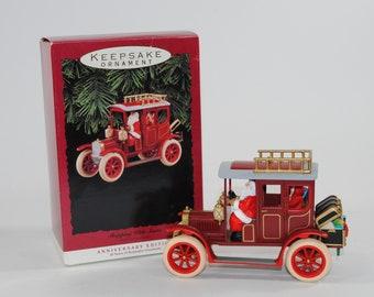 Vintage, Ornament. Hallmark Keepsake Shopping with Santa, Anniversary Edition, 1993