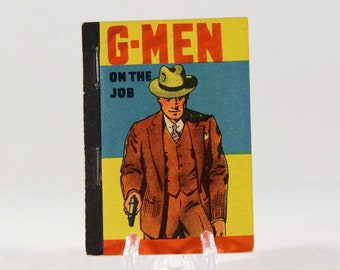 Vintage Whitman Mini Book G-Men On The Job 1938 Made in USA