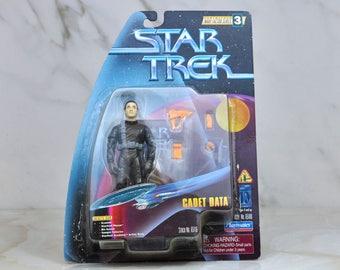 Vintage Star Trek Action Figure Cadet Data 65100 65116 1997 Warp Factor Series, Playmates Figure