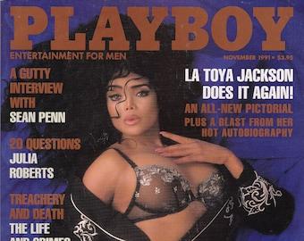Vintage Playboy Magazine November 1991 La Toya Jackson, Sean Penn, Julia Roberts