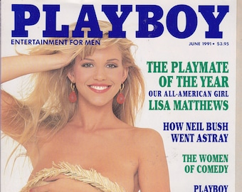 Vintage Playboy Magazine June 1991 With Lisa Matthews