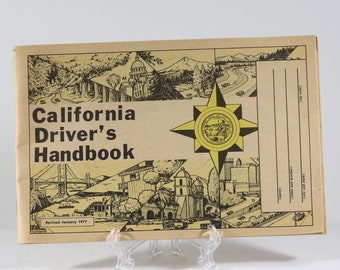 Vintage California Driver's Booklet Handbook - DL-600 Revised January 1977
