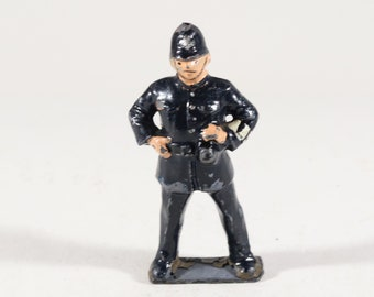 Vintage Barclay Manoil Lead Figure, Train Conductor or Policeman, Made in the England 1950s
