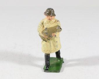 Johillco Lead Figure, Farmer holding a lamb, Made in England 1950s