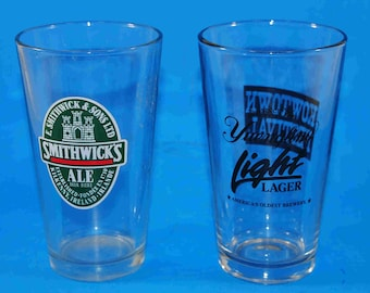 Vintage Pint Beer Glasses, Smithwicks Ale, Yuengling Light Lager