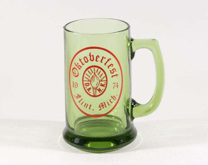 Featured listing image: Vintage Glass Mug Oktoberfest Flint Michigan 1974 12oz Beer Mug