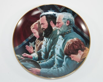 Vintage Danbury Mint The Generals Were Brought To Tears Collector Plate Box COA 1993