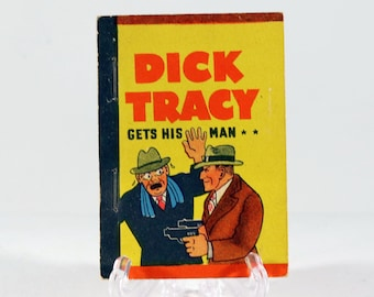 Vintage Whitman Mini Book Dick Tracy Gets His Man 1938 Made in USA