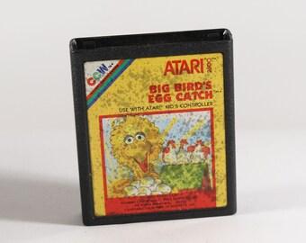 Vintage Atari 2600 Game, Big Bird's Egg Catch 1983