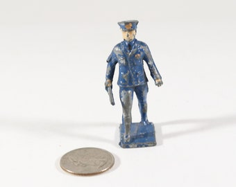 Vintage Barclay Manoil Lead Figure, Policeman, 1950s