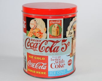 "Vintage Coca-Cola Christmas Puzzle in a Collector's Tin from 1993, Complete 700 piece jgsaw 12"" x 34"" puzzle"