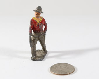 Vintage Barclay Manoil Lead Figure, Cowboy with Lasso, Made in the England 1930s