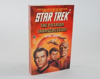 Vintage Book Star Trek The Patrian Transgression Number 69 1994 Paperback