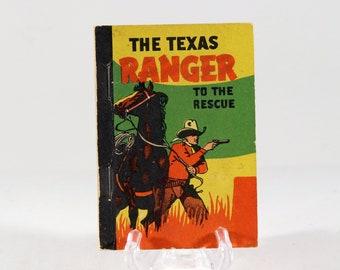 Vintage Whitman Mini Book Texas Ranger To The Rescue 1938 Made in USA