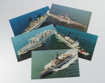 Vintage Postcard Bundle, 5 cards, Military Vessels, Vogelgesang, Voge, Bainbridge, USCGC Hamilton, Canisteo
