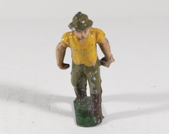 Vintage Barclay Manoil Lead Figure, Train Conductor 1950s France