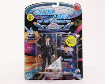 Vintage Captain Picard as Dixon Hill Star Trek The Next Generation Action Figure Playmates 6070 6050 1994