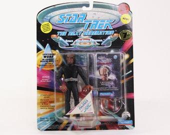 Vintage Star Trek Action Figure Lieutenant Worf In Rescue Outfit 6070 6036 1994 Next Generation, Playmates Figure