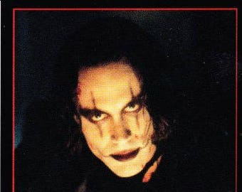 Vintage The Crow Trading Card Kitchen Sink Cards Illustrated Promo Card P3 of 5, Prototype, Gothic Masterpeice, Brandon Lee, Crownvison