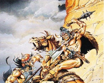 Vintage Mike Ploog Fantasy Art Promo Card, 1994, FPG Cards