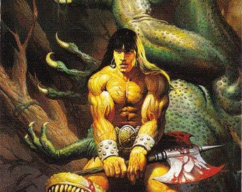Vintage Ken Kelly Collection #2 Trading Card 1994, Fantasy Art, Sword And Sorcery, Heroic Fantasy, Conan the Barbarian, Tarzan, KISS