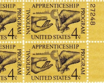 Vintage Postage Stamps Apprenticeship Program 1962, 4 4 Cent Stamps, Scott 1201