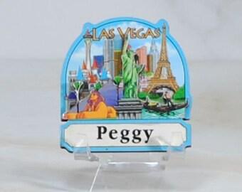 Vintage Magnet, Las Vegas Nevada Refrigerator Magnet, 1990s