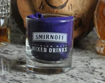 Vintage Smirnoff Premium Malt Vodka Glass, Lowball Glass, Mixed Drinks Glass, Smirnoff Glass, Smirnoff Vodka, Premium Vodka, Barware