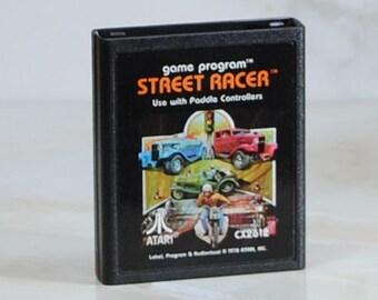 Vintage Atari 2600 Game Street Racer, 1978