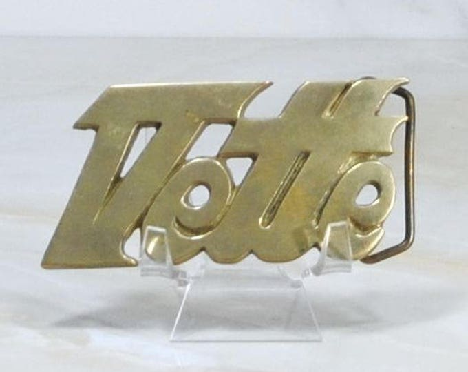 Vintage Vette Buckle, Solid Brass Buckle, Chevrolet Corvette, Brass Belt Buckle, Baron Buckles, 1978, Taiwan ROC, Number 4073, Corvette